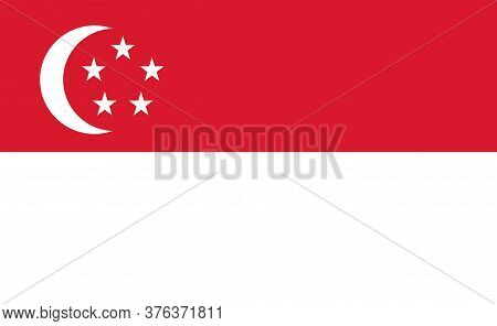 Singapore National Flag In Exact Proportions - Vector