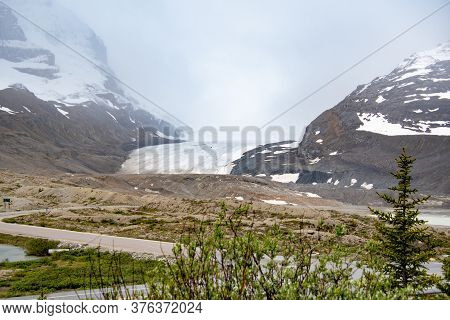 A Picture Of Athabasca Glacier Taken From The Icefield Center.   Jasper National Park  Ab Canada