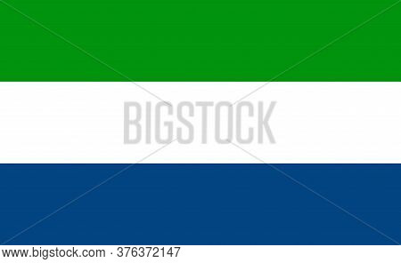 Sierra Leone National Flag In Exact Proportions - Vector