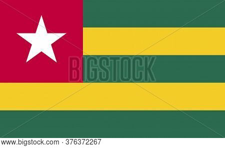 Togo National Flag In Exact Proportions - Vector