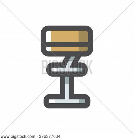 Bar Chair Rack Seat Vector Cartoon Illustration