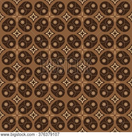 Unique Creative Design On Indonesia Batik With Soft Brown Color Design