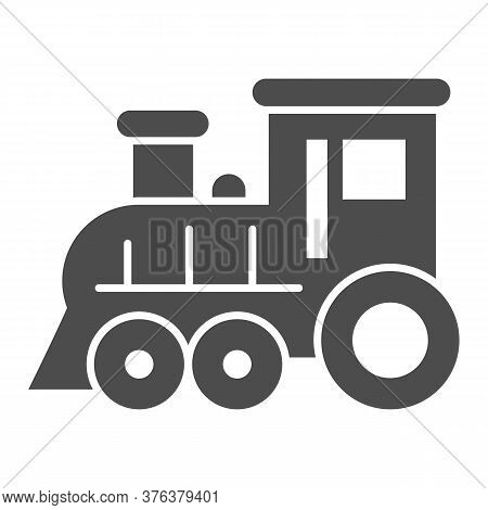 Locomotive Solid Icon, Amusement Park Concept, Train Sign On White Background, Locomotive Toy Icon I