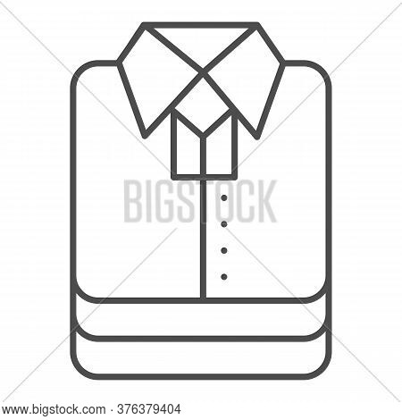 Shirt Stack Thin Line Icon, Shopping Concept, Stacked Folded Clothes Sign On White Background, Stack