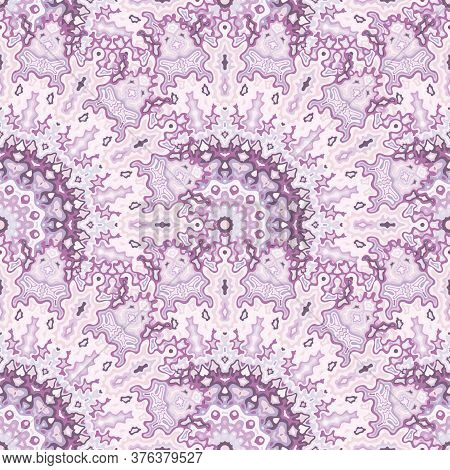 Fractal Floral Seamless Pattern. Asian Ethnic Vector Composition. Intricate Lollapalooza Mandala Geo