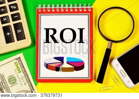 Return On Investment-roi Financial Coefficient Of Business Development, Taking Into Account The Amou