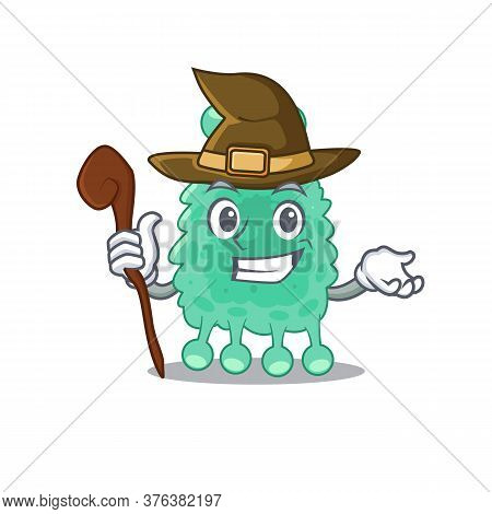 Azotobacter Vinelandii Funny But Sneaky Witch Cartoon Character Design