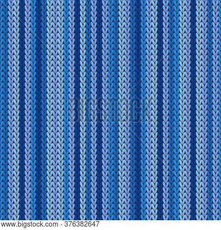 Macro Vertical Stripes Knitting Texture Geometric Seamless Pattern. Carpet Hosiery Textile Print. Cl