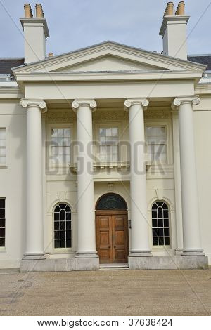 Classical arched doorway detail