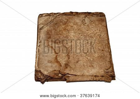 Very Old Book Pages On White Background,isolated