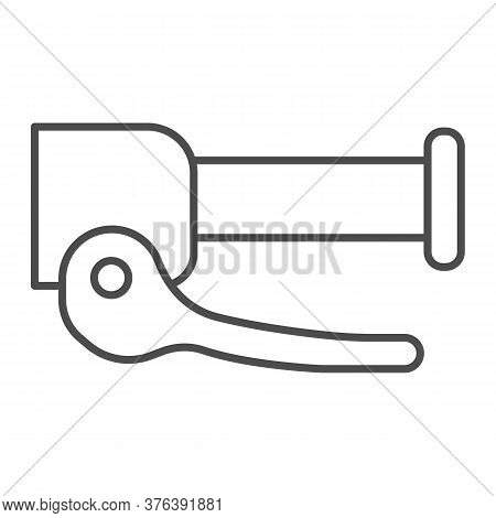 Steering Handle With Clamping Brake Thin Line Icon, Parts And Details For Bike Concept, Hydraulic Br