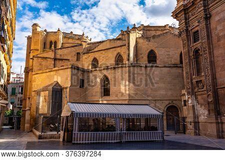 Cathedral Church Of Saint Mary, La Santa Iglesia Catedral De Santa Maria In Murcia, Spain. A Mixture