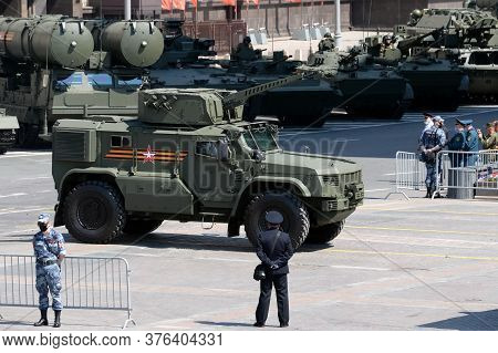 Moscow, Russia - June 24, 2020:multipurpose Armored Vehicle