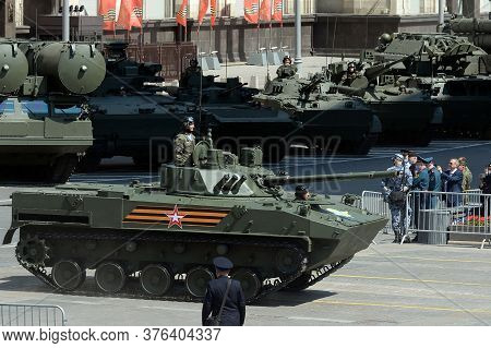 Moscow, Russia - June 24, 2020:bmd-4 Russian Combat Tracked Floating Vehicle For Transporting Airbor