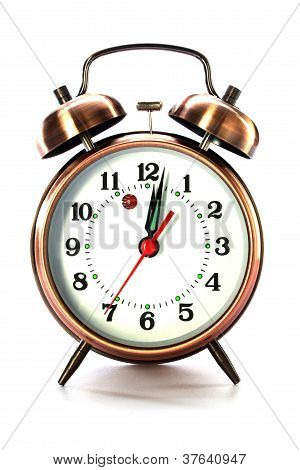 Old Style Alarm Clock Isolated