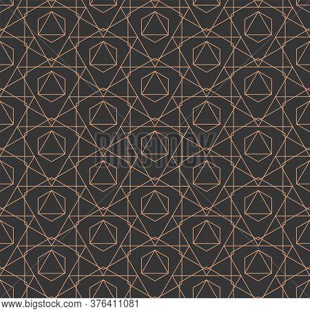 Seamless Monochrome Graphic Symmetrical, Tile Texture. Continuous Tileable Vector Luxury Swatch Patt