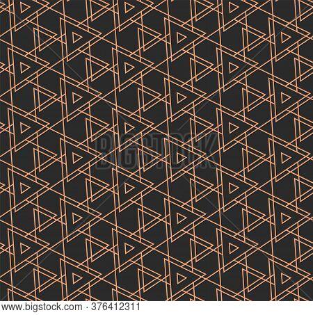 Repetitive Fabric Graphic Rhombus Design Texture. Golden Classic Vector, Diagonal Tile Pattern. Seam