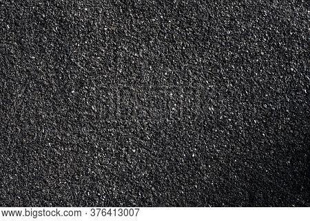 Rough Surface  Of Asphalt. Tarmac Grey Grainy Road, Texture Background