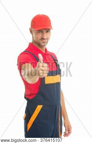 Handyman Professional Occupation. Reputable Master. Easy And Quick. Handyman Service. Man Helpful La