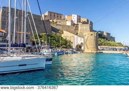 Port Of Calvi, North Of Corsica, France