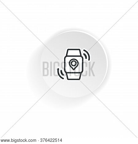 Smart Watch With Pinpoint Location. Gps Tracking, Pin. Vector On Isolated White Background. Eps 10