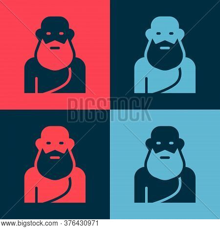 Pop Art Socrates Icon Isolated On Color Background. Sokrat Ancient Greek Athenes Ancient Philosophy.