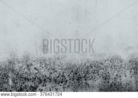 Black And White Old Concrete Wall Texture Background. Background For Dead, Sad, Hopeless, Lament, Gr
