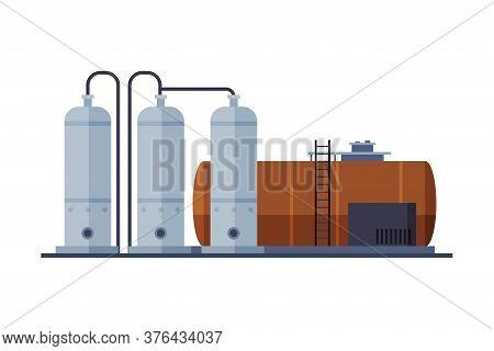 Crude Oil Tank, Benzine, Fuel Cylinder, Storage Reservoir, Gasoline And Petroleum Production Industr