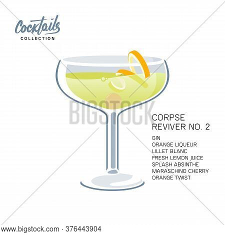 After Party Cocktail Corpse Reviver 2 Drink Twist
