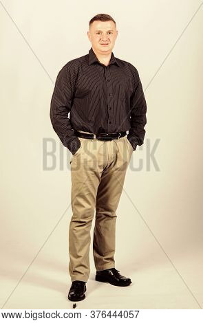 Businessman. Office Life. Multimillionaire. Confident Man. Modern Life. Formal Fashion And Dress Cod