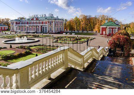 Kadriorg Park And Palace At Sunny Autumn Day