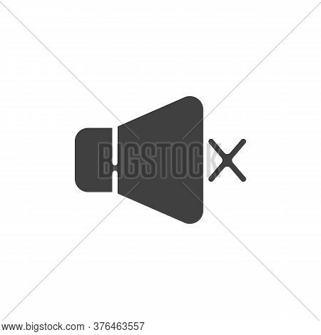 Mute Speaker Vector Icon. Filled Flat Sign For Mobile Concept And Web Design. Sound Mute Glyph Icon.