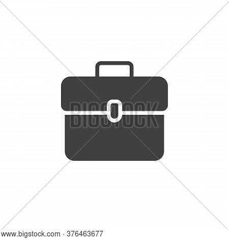 Briefcase Portfolio Vector Icon. Filled Flat Sign For Mobile Concept And Web Design. Document Portfo