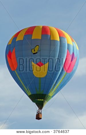 Another beautiful balloon one of 750 flying at the Albuquerque Balloon Fiesta poster