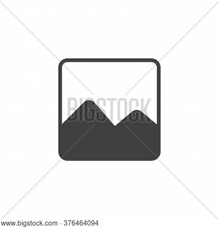 Image Gallery Vector Icon. Filled Flat Sign For Mobile Concept And Web Design. Picture Gallery Glyph