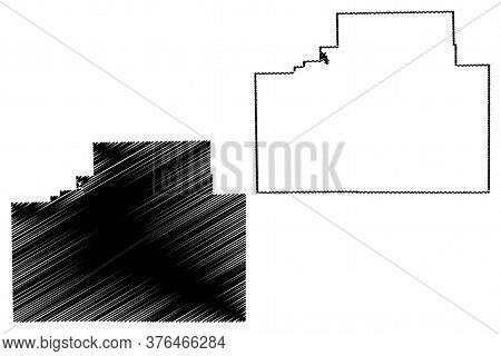 Mclean County, Illinois (u.s. County, United States Of America, Usa, U.s., Us) Map Vector Illustrati