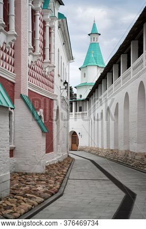 Istra New Jerusalem Monastery In Moscow Region, Russia. Orthodox Cathedral Fortress