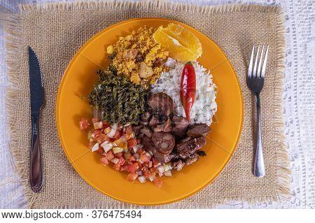 Dish With Feijoada, Typical Brazilian Food