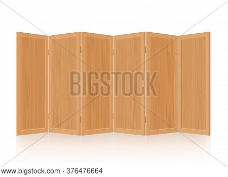 Partition, Room Divider, Folding Screen - Wooden, Foldable, Mobile, Rustic, Retro Interior Furniture