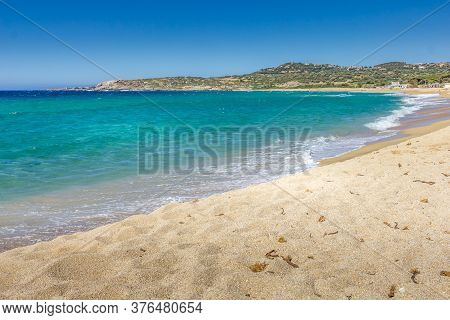 Landscape In Algajola Beach In Corsica, France