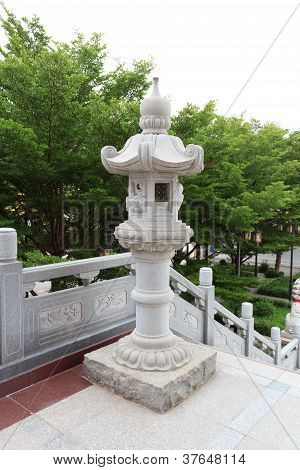 Traditional Chinese Stone Lamp
