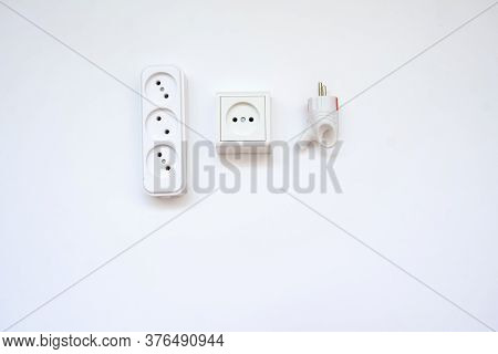 Some Of The Electricians Equipment, White Background