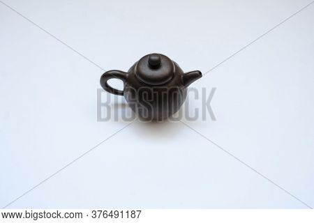A New Ceramic Kettle, Close View, White Background