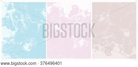Abstract Grunge Backgrounds. Delicate Abstract Marble Vector Layout. White Irregular Lines On A Ligh