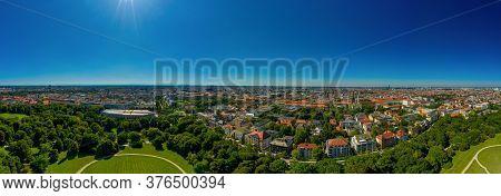 Munich From Above From The View Of The Englischer Garten.