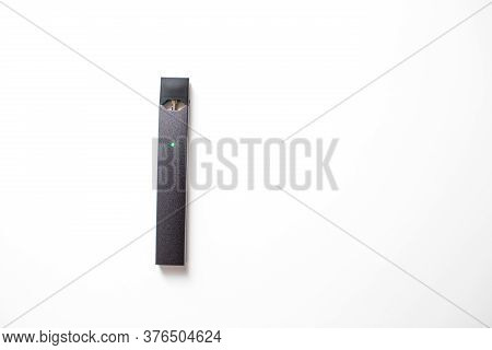 Moscow - 26 June 2020: Juul E-cigarette Nicotine Vapor Stick And Pods