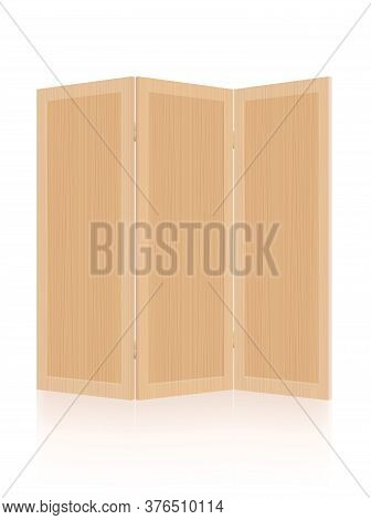 Wooden Room Divider, Folding Screen, Partition - Foldable, Mobile, Modern Three-part Interior Furnit