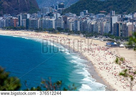 View of Copacabana Beach, Brazil