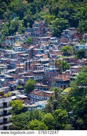 Favela in Copacabana in Rio de Janeiro