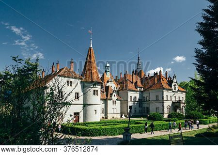 Carpathian, Ukraine - May, 6 2017: The Schoenborn Or Schonborn Hunting Palace, Beregvar Castle In Ca